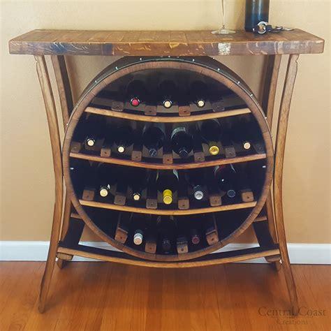 bottle wine barrel wine rack holder rustic furniture
