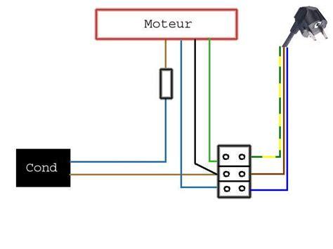 Branchement Ventilateur De Plafond Avec Lumière by R 233 Solu Montage Cablage Condensateur Rvk Moteur Rotatif