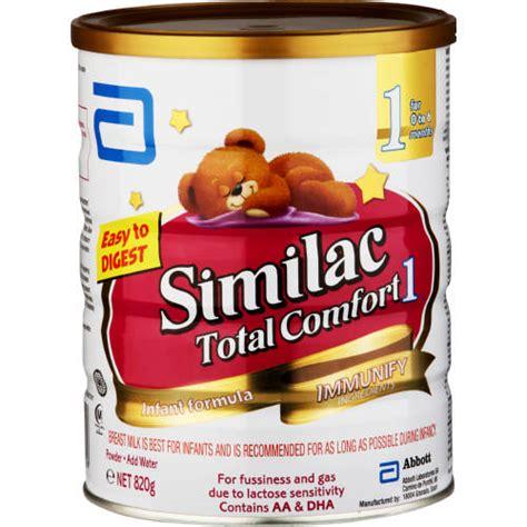 gain plus total comfort similac total comfort stage 1 infant formula 820g clicks