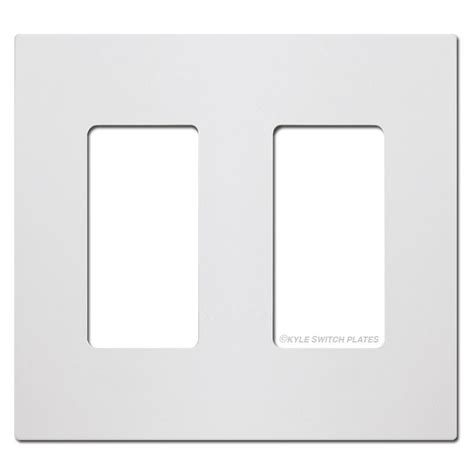 White Light Switch Covers by Screwless 2 Decora Rocker Light Switch Plate White