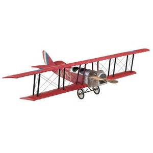 Capel Rug Authentic Models Wwi Fighter Biplane Model In Red Ap401r