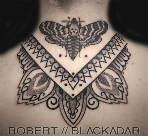 death head moth tattoo midnight moon tattoo