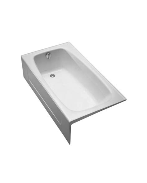 toto cast iron bathtub toto fby1525lp 59 3 4 x 32 x 16 3 4 inch enameled cast iron bathtub with left drain