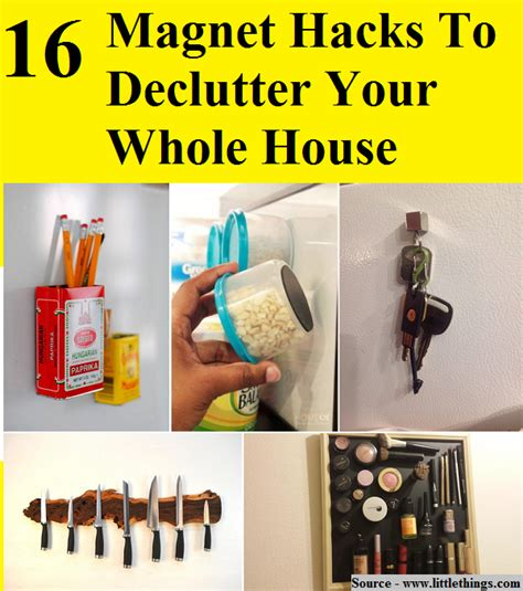 house hacks 16 magnet hacks to declutter your whole house home and