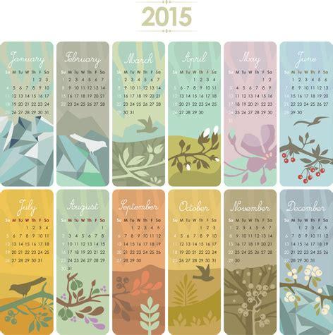 graphic design calendar 2015 2015 calendar cards floral vector free vector in