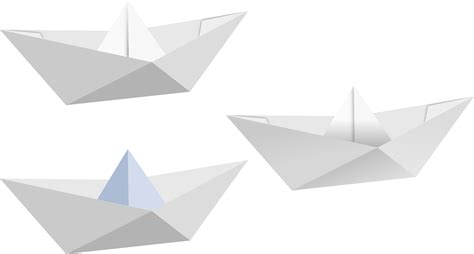 Fold Boat Paper - clipart paper boat