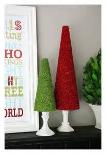 make glitter trees dollar store crafts