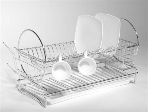 Stainless Steel Dish Rack Large by Stainless Steel Dish Rack Grace Textile
