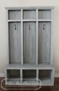 Cubby Bench Entryway Mudroom Locker Amp Bench 3 Lockers Shabby Chic