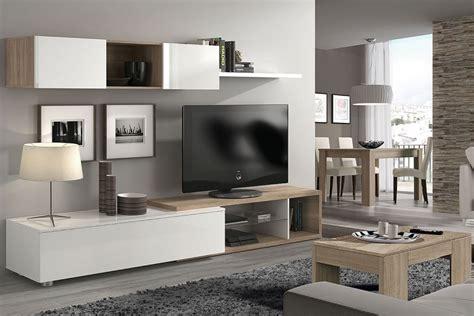 mueble de salon comedor naia en color blanco  roble