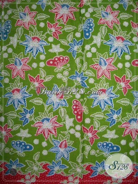 Motif Flower Hijau kain batik seragam warna hijau batik motif bunga dan kupu