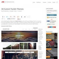 tumblr themes free custom customization blogging pearltrees