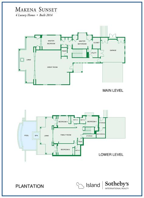 makena floor plan makena sunset for sale 4 luxury homes
