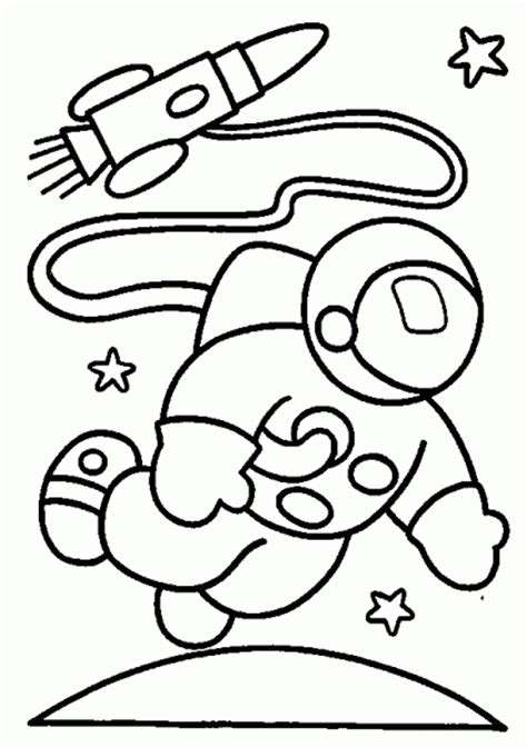 preschool coloring pages outer space astronaut and rocket in space coloring pages space
