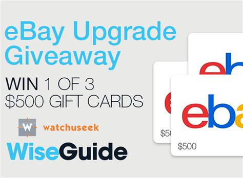 Win A Ebay Gift Card - win one of three 500 ebay gift cards watchuseek com