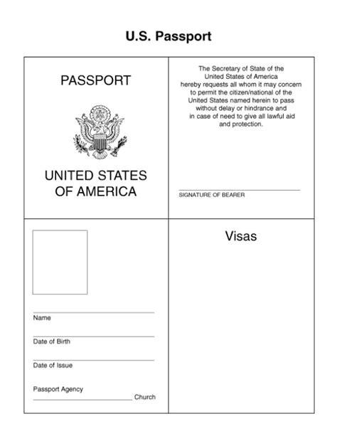 passport template for google docs passport for kids google search pinteres