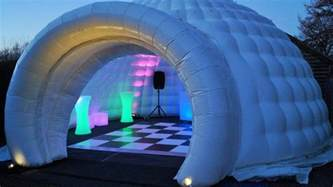 Tent Platform inflatable igloo hire inflatable bar hire jigsaw marquees