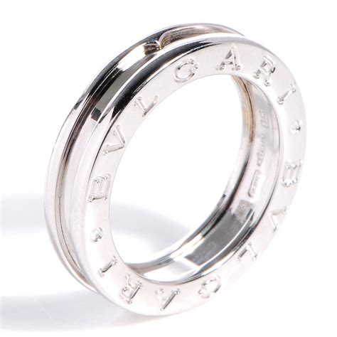 bulgari bvlgari 18k white gold b zero1 1 band ring 50 us 5