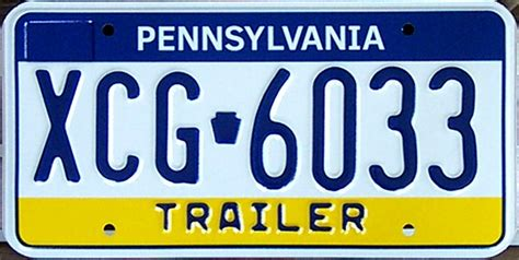 Penndot Vanity Plates by File Pennsylvania Trailer License Plate Xcg 6033 Jpg