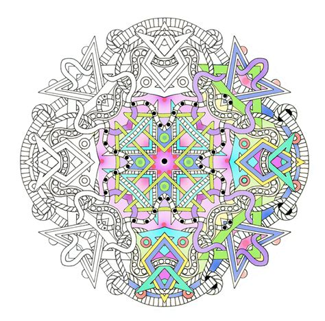 Mandalas Adult Coloring Pages Shapes By Emerlyearts On Etsy Complex Mandala Coloring Pages