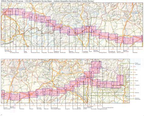 camino trail map camino de santiago 50k cnig topographic 11 map set stanfords