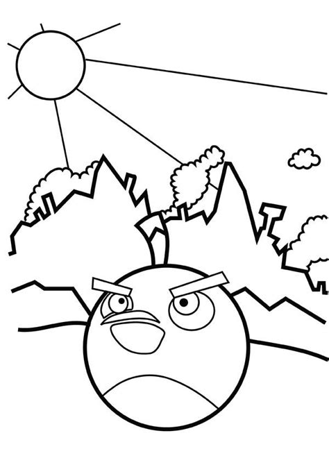 black bird coloring page bomb bird coloring page kids coloring page gallery