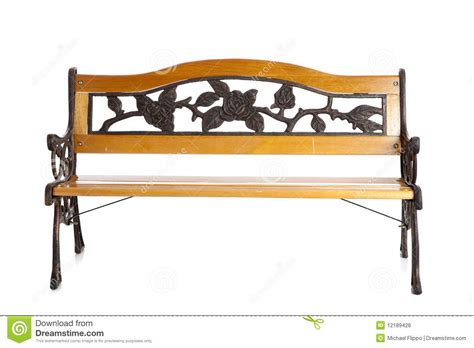 white park bench wooden park bench on white royalty free stock image image 12189426