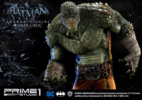 batman killer croc prime 1 batman arkham killer croc statue mightymega