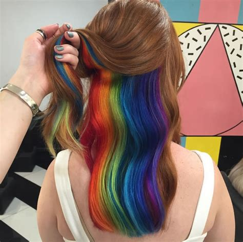 whats trending now in hair color trending now rainbow roots hair color the boottique blog