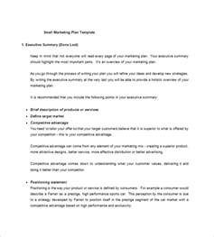 Small Business Proposal Template Free Small Business Marketing Plan Template 10 Free Sample