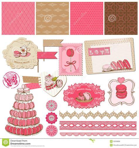design online scrapbook scrapbook design elements macaroons and dessert royalty