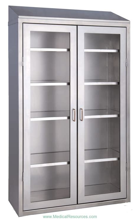 Instrument Cabinet 2 Door 1 medwurx stainless steel stand alone instrument supply cabinets with glass doors