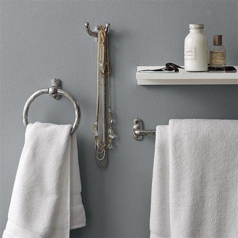 Bathroom Towel Hook by Textured Bath Hardware Modern Towel Bars And Hooks By West Elm