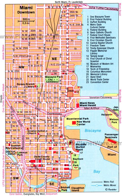miami map maps update 7001118 fort lauderdale tourist attractions