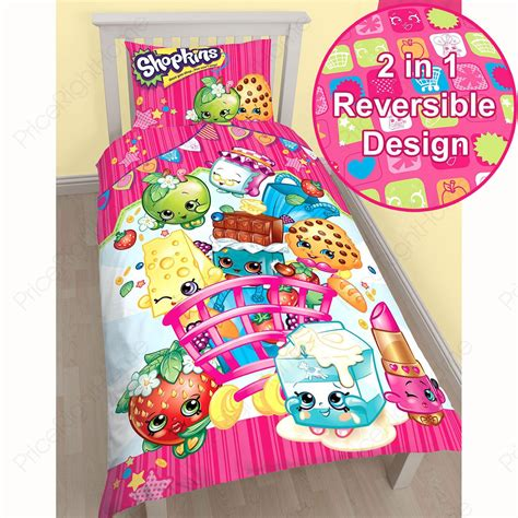Super King Cotton Duvet Cover Shopkins Toy Single Duvet Cover Amp Pillowcase Set New