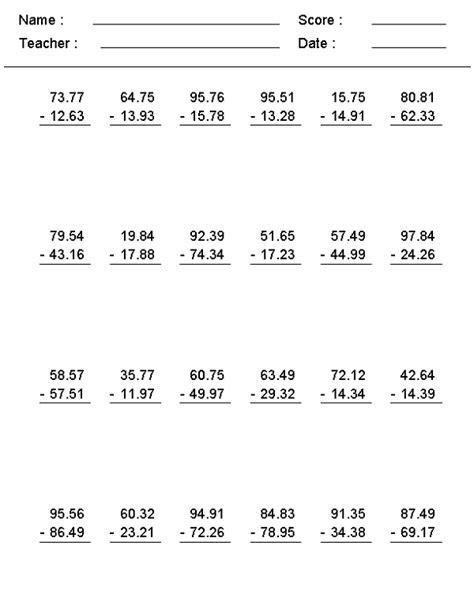 6th Grade Math Worksheets Printable