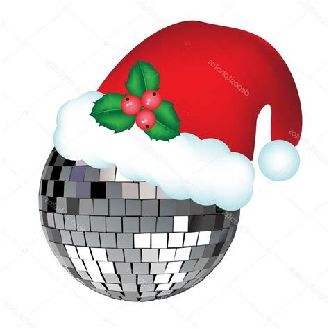 top stock illustration disco ball with christmas hat file free