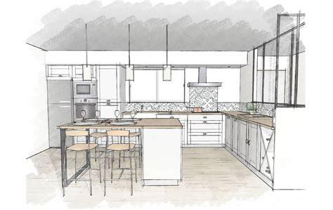 cuisine 15m2 ilot centrale plan cuisine avec ilot central 2 15m2 centrale