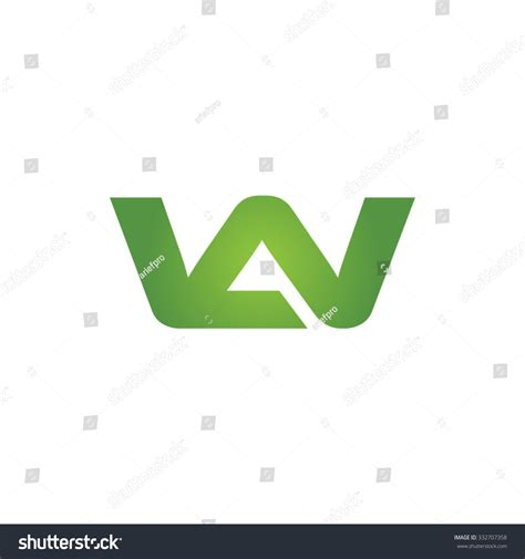 Green L Company by Aw Wa Company Linked Letter Logo Stock Vector 332707358