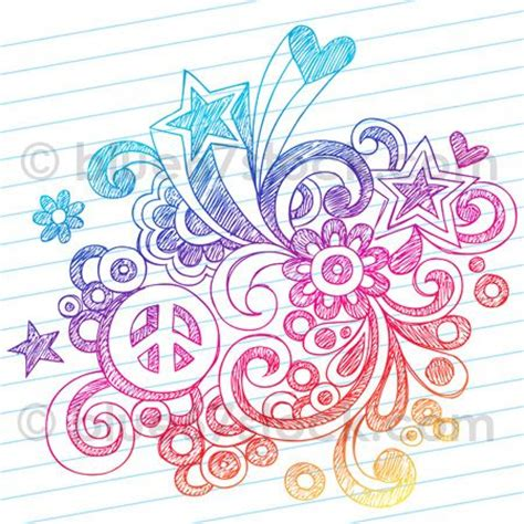 doodle peace sign sketchy peace sign doodle drawing vector