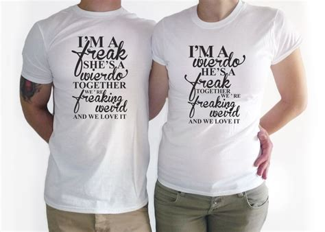 Shirts For Couples Couples T Shirt Im A Weirdo Shirt T Shirt