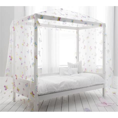 Single Bed Canopy Single Bed With Four Poster Butterfly Canopy Noa Nani
