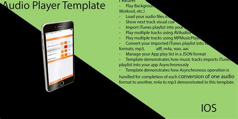 audio format for xcode audio player xcode ios template music app templates for