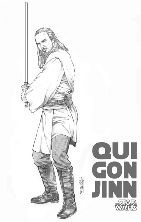 Qui Gon Jinn Coloring Pages qui gon jiin by thegerjoos on deviantart