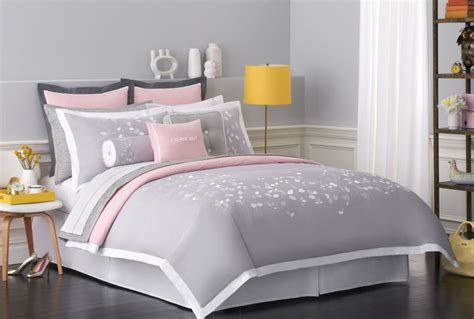 gray and pink comforter new charming bedding collections from kate spade new