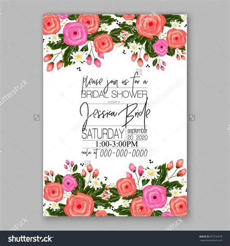 card template for flowers wedding invitation templates with designs choice image
