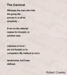 the carnival poem by robert creeley poem hunter
