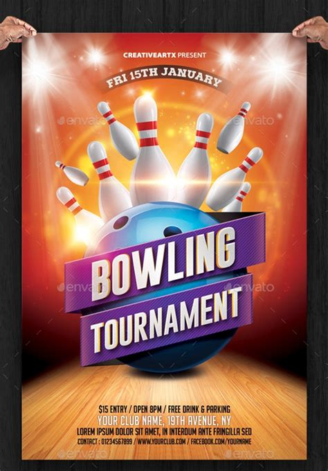 23 Bowling Flyer Psd Vector Eps Jpg Download Freecreatives Bowling Event Flyer Template