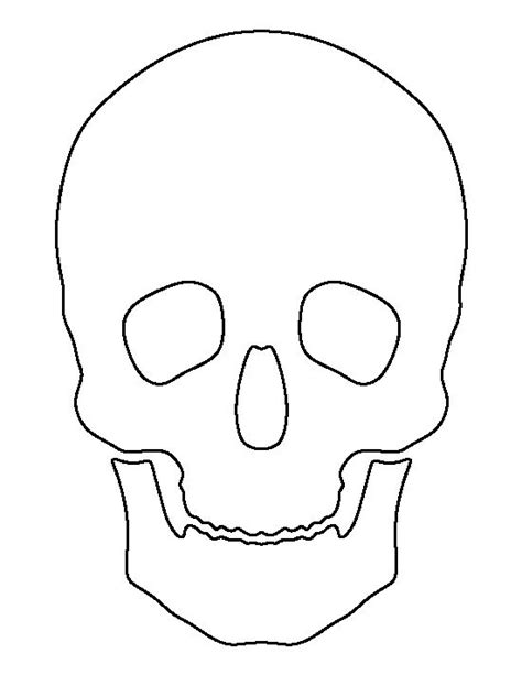 printable skull template skull pattern use the printable outline for crafts