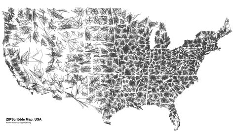 usa map with zip codes the us zipscribble map
